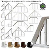 Set of Trapezoidal Windows(3ddanlod.ir) 060
