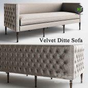 Velvet Ditte Sofa 001 (3ddanlod.ir)