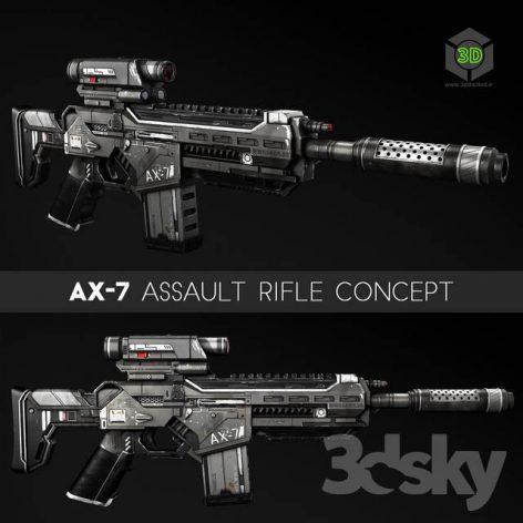 AX7 Assault Rifle(3ddanlod.ir) 866