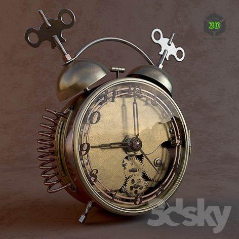 Alarm Clock Steampunk(3ddanlod.ir) 251