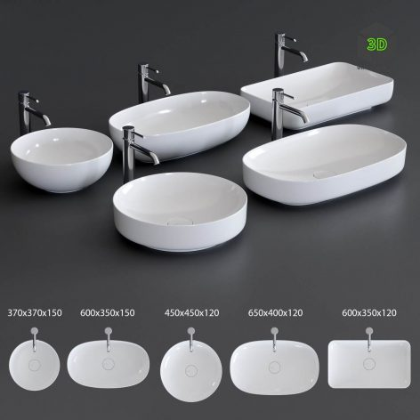 Alice Ceramica Form Washbasin(3ddanlod.ir) 2370