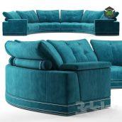 Andrew Round Sectional Velvet Sofa Fendi Casa(3ddanlod.ir) 1280