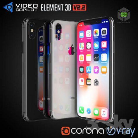 Apple iPhone X(3ddanlod.ir) 769