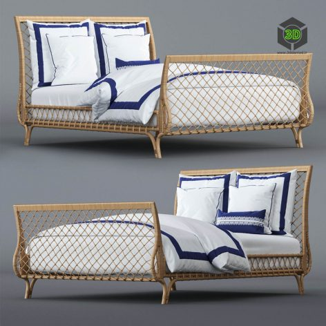 Avalon Bed and Beach Club Border Bedding Set(3ddanlod.ir) 2276