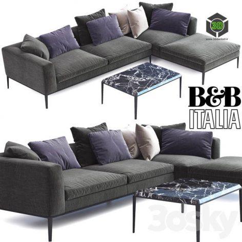 B & B Italia MICHEL Sofa(3ddanlod.ir) 422