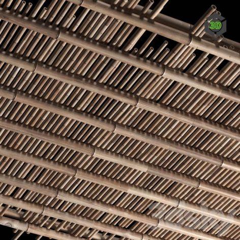 Bamboo ceiling (max 2011 Vray) 3D model (3ddanlod.ir) 170