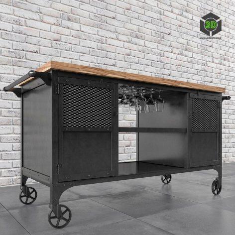 Bar Trolley(3ddanlod.ir) 2150