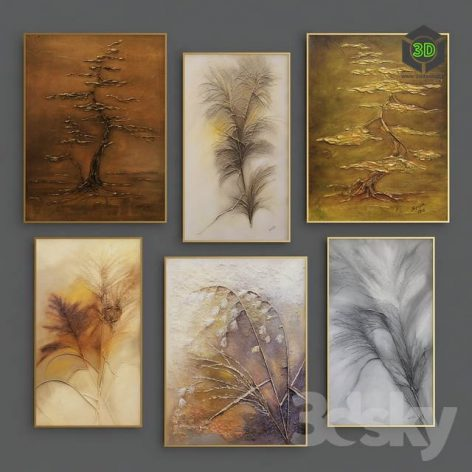 Bas Relief Autumn Painting(3ddanlod.ir) 1117