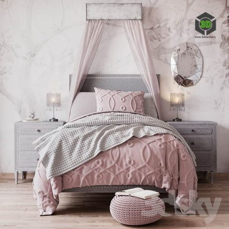 Bed MARCELLE UPHOLSTERED(3ddanlod.ir) 1506