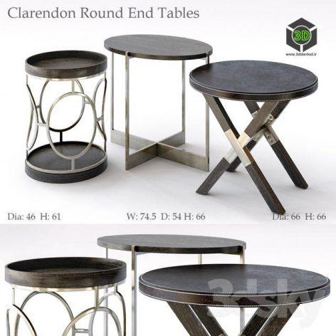 Bernhardt Clarendon Round End Tables(3ddanlod.ir) 1008