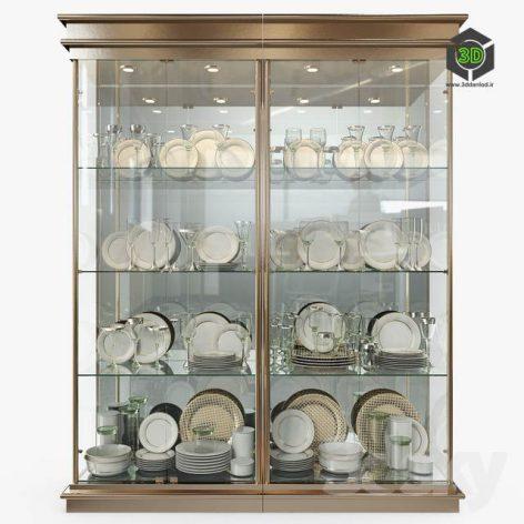 Birgit Israel Pair of American Brass Display Cabinets(3ddanlod.ir) 800