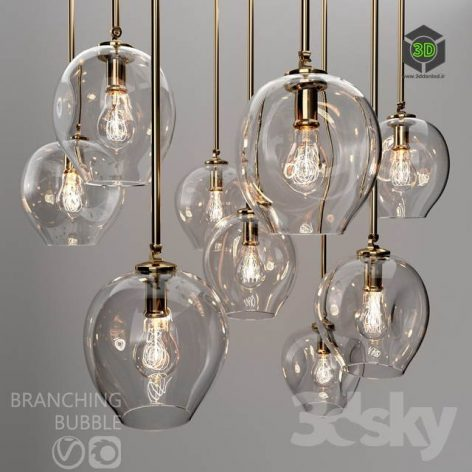 Branching Bubble 1 Lamp by Lindsey Adelman CLEAR GOLD(3ddanlod.ir) 1090