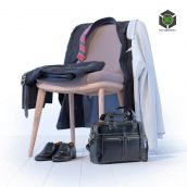 Business Leather Bag Dr Koffer Suit and Shoes(3ddanlod.ir) 098