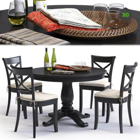 C&B Vintner Chair and Avalon Table by Сrate&Barrel (3ddanlod.ir)