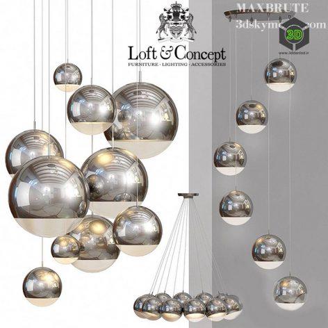 Ceiling Lamp Mirror Ball(3ddanlod.ir) 2073