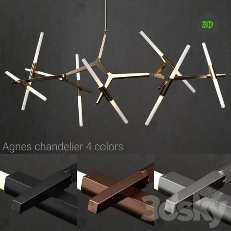 Chandelier Agnes 14 Lights 4 Colors(3ddanlod.ir) 1670