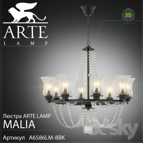 Chandelier Arte Lamp Malia A6586LM-8BK(3ddanlod.ir) 1859