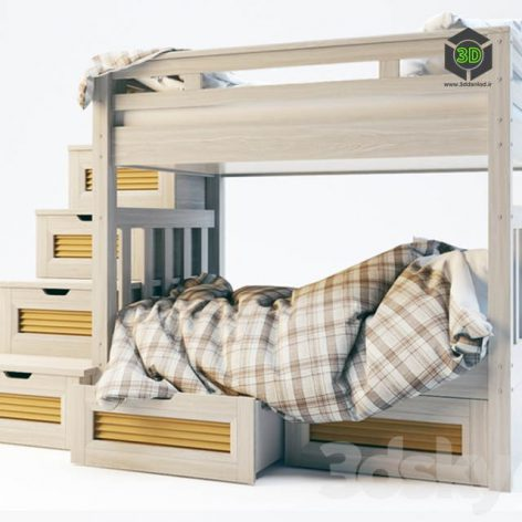Childrens bunk bed (3ddanlod.ir) 077