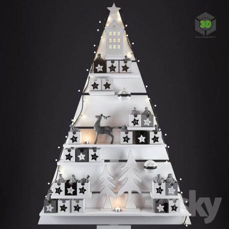 Christmas Wall Tree(3ddanlod.ir) 398
