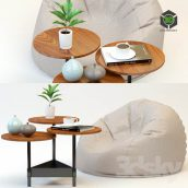 Coffee Table and Poof(3ddanlod.ir) 270
