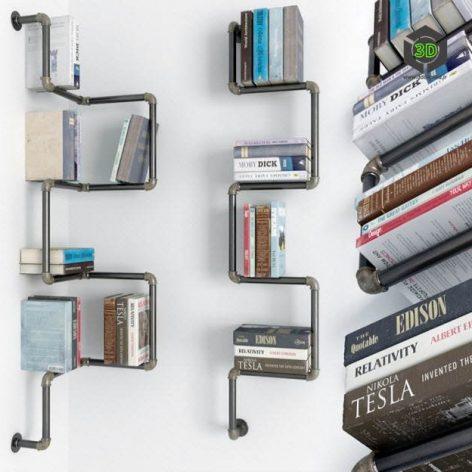 Collection of Bookshelves(3ddanlod.ir) 122