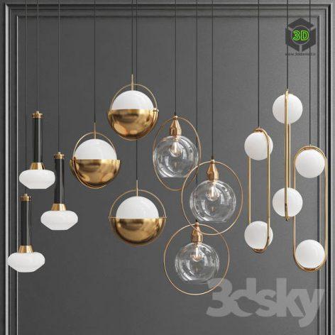 Collection of Pendant Lights 3d models 001 (3ddanlod.ir)