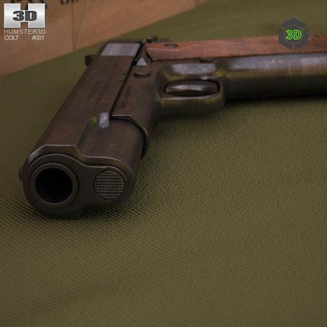 Colt 1911 side view (3ddanlod.ir) 007