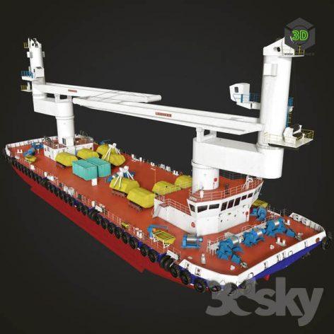 Crane Barge(3ddanlod.ir) 1042