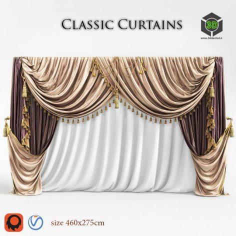 Curtain classic set (Vray, Corona) 3D model (3ddanlod.ir) 049