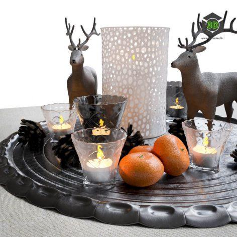 Decorative Christmas Set(3ddanlod.ir) 2106