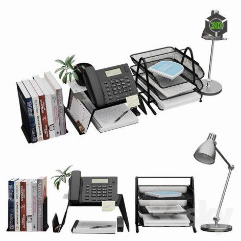 Decorative Set for Desktop(3ddanlod.ir) 1277