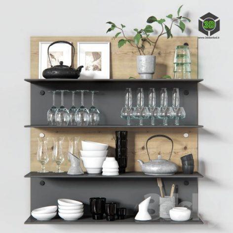 Decorative Set for Kitchen(3ddanlod.ir) 620