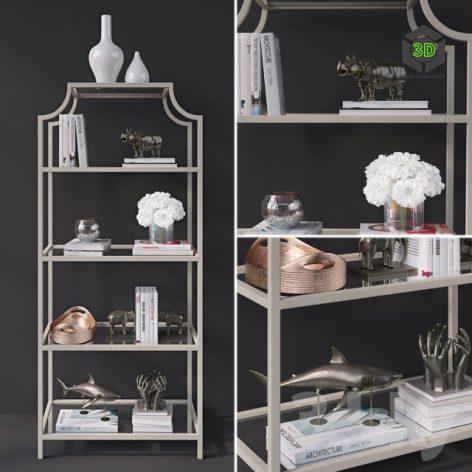 Decorative Set on the Authors Shelf(3ddanlod.ir) 1018