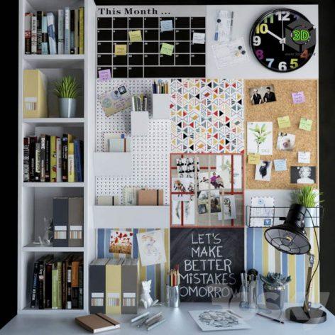 Decorative set for your desktop(3ddanlod.ir) 116