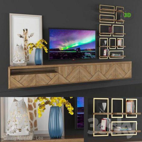 Dekor Set Tv Console 1(3ddanlod.ir) 1394
