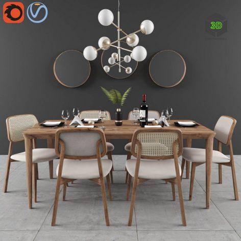 Dining Set Lider 01(3ddanlod.ir) 2122