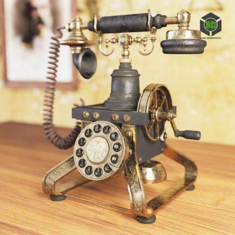 Eiffel Vintage Phone(3ddanlod.ir) 2426