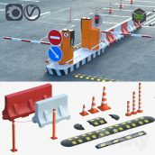 Equipment for the Creation of Parking Lots Road Fences(3ddanlod.ir) 1395