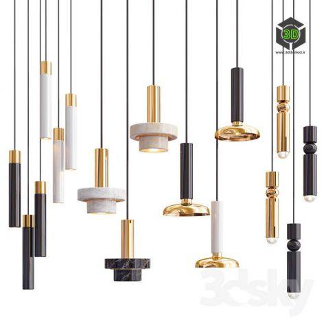 Four Hanging Lights_34 Exclusive 3D model 001 (3ddanlod.ir)