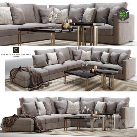 Henley modular sofa and side coffee table (3ddanlod.ir) 001 (3ddanlod.ir)