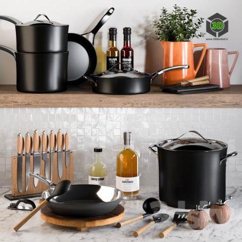 Kitchen Accessories 19 3d model 001 (3ddanlod.ir)
