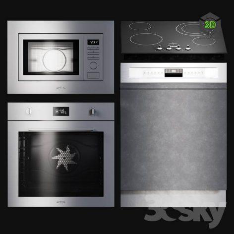 Kitchen Appliances Selezione 3d model 001 (3ddanlod.ir)