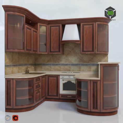 Kitchen Klio (max 2013 Corona) 3D model (3ddanlod.ir) 247