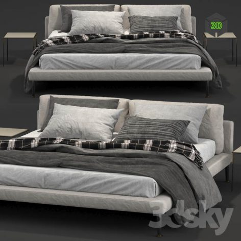 Living Divani Floyd-Hi double bed 001 (3ddanlod.ir)