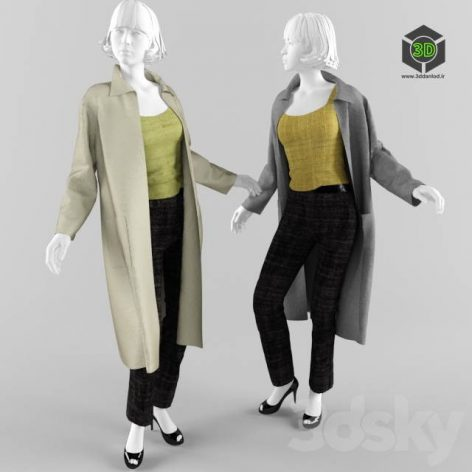 Mannequin with women's clothing (3ddanlod.ir) 070