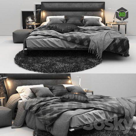 Mr. Moonlight bed 3d model 001 (3ddanlod.ir)