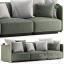 Rattan sofa Eddy by Flexform 4(3ddanlod.ir)