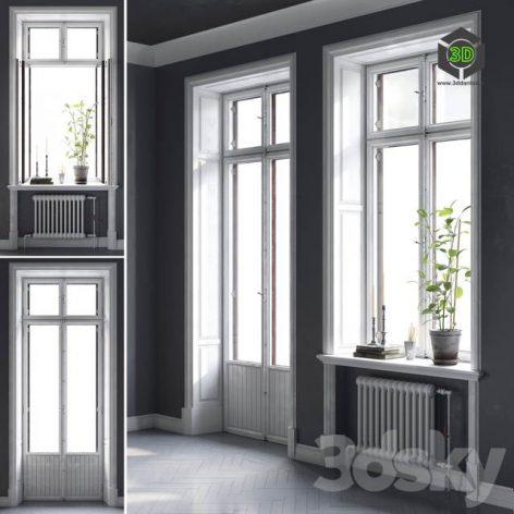 Scandinavian windows (max 2011 Vray, Corona) (3ddanlod.ir) 004
