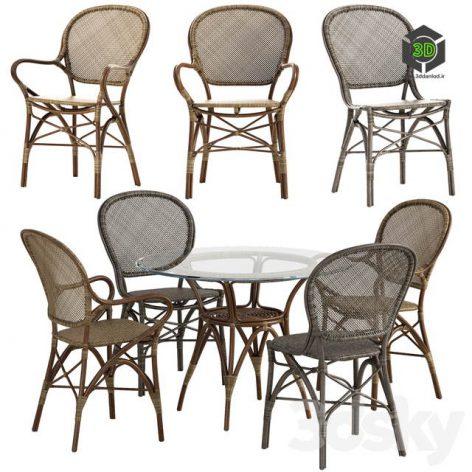 Sika Design Rossini chair Originals table set 3d model001 (3ddanlod.ir)