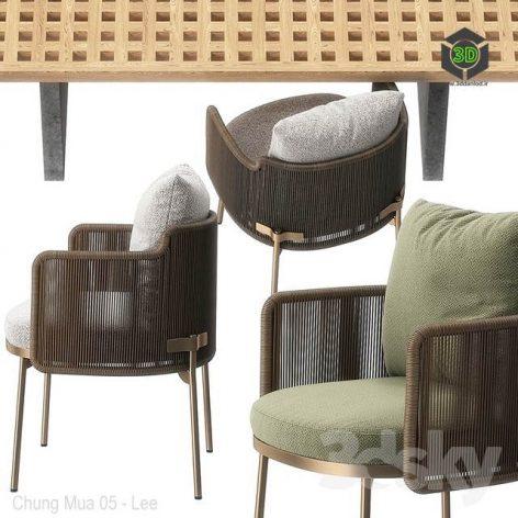 Tape chair Quadrado table by Minotti (max, obj) (3ddanlod.ir) 165